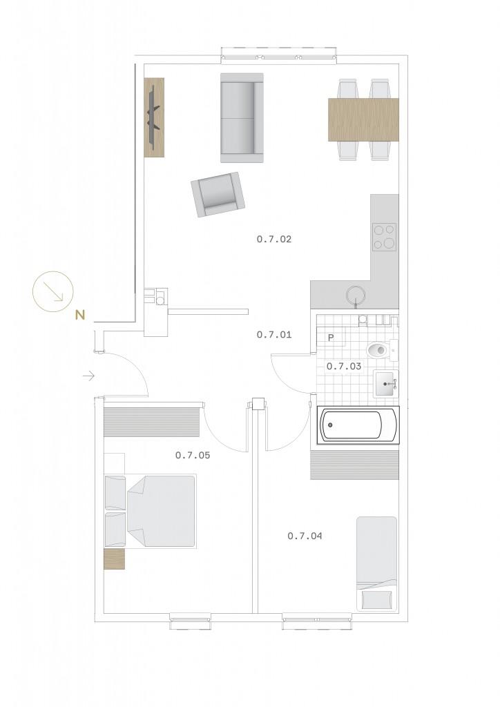 Rzut mieszkania wybrany przez klientki